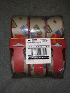 Scotch Heavy Duty Packaging Tape 1 88 x38 2 Yd 6 Pack W dispenser Free Shipping