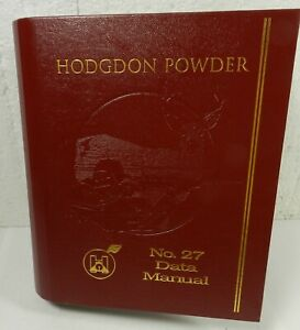 HODGDON POWDER NO.27 DATA MANUAL Binder Book Gun Ammo Reloading Scovill