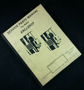 Yale Erc 040 060 J f Electric Sit Down Rider Lift Truck Parts Manual Forklift