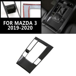Interior Console Gear Shift Panel Cover For Mazda 3 2019 2020 Carbon Fiber Style