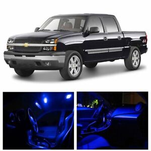 Blue Car Led Lights Interior Package Kit For Chevy Silverado 1999 2006 Bulb
