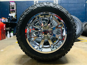 20x10 Xd825 Buck Chrome Wheels Rims 32 Fuel At Tires 6x135 Ford F150 Expedition