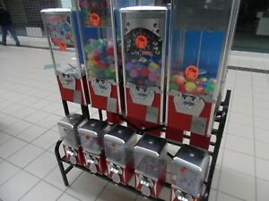 Red A a Northwestern 1 And 2 Capsule Bulk Toy Candy Vending Machine 18 Rack
