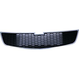 Grille For 2011 2014 Chevrolet Cruze Lower Chrome Shell W Black Insert Plastic