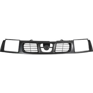 Grille For 1998 2000 Nissan Frontier Plastic Black Shell And Insert