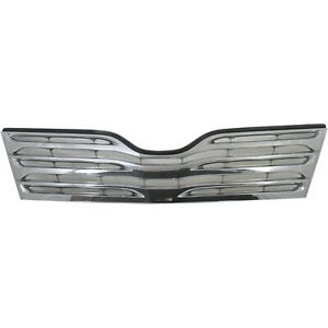 Grille For 2009 2012 Toyota Venza Chrome Plastic