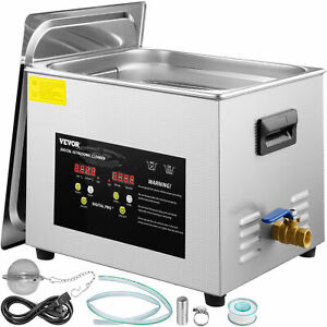 15l 600w Stainless Steel Industry Ultrasonic Cleaner Heated Heater W timer