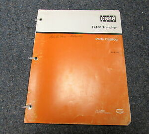 Case Tl100 Trencher Parts Catalog Manual 8 1762 1991