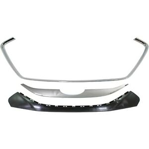 New Set Of 3 Grille Trims Grill Chrome Hy1210102 Hy1210103 Hy1210104