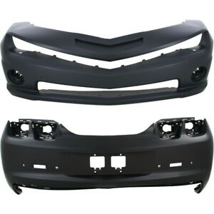 Bumper Cover For 2010 2013 Chevrolet Camaro Set Of 2 Front And Rear