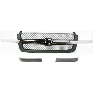 Grille Assembly Kit For 2003 2006 Chevrolet Silverado 1500 3pc