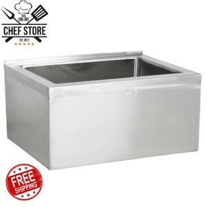 33 28 X 20 X 6 Stainles Steel Bowl Floor Mop Sink Commercial Utility Kitchen