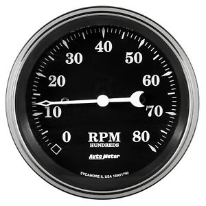 Autometer 1790 Old Tyme Black Electric Programmable Speedometer