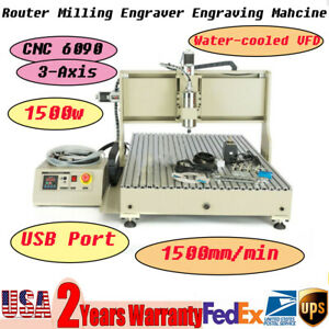 6090 Cnc Machine Router 3axis Engraving Wood Carving Diy Milling Kit Usb Port Us