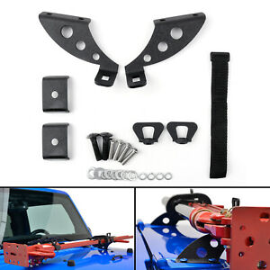 Hi Lift Jack Mount Hood Rear Door Hinge Bracket For Jeep Wrangler Jk 07 18 T1
