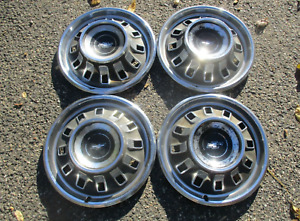 1967 Chevy Impala Bel Air 14 Inch Factory Hubcaps Wheel Covers