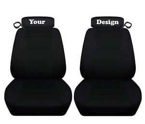 Fits 1998 Ford Mustang Gt Convertible Solid Black Seat Covers Your Design
