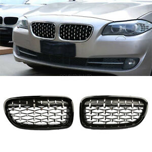 Gloss Black Front Kidney Grille Grill For Bmw F10 528i 535i 550i 4d M5 2011 2016