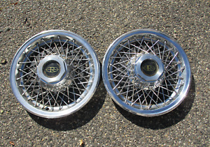 Lot Of 2 1977 1978 Buick Riviera Wire Spoke Hubcaps Wheel Covers
