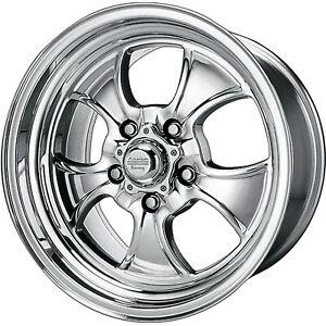 15x10 Polished American Racing Vintage Hopster Wheel 5x4 75 5x120 65 44