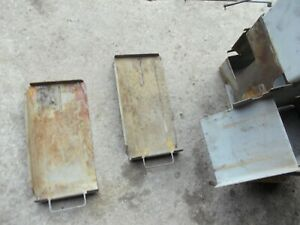 Massey Ferguson 85 Diesel Tractor Dual Battery Box Trays Linkage Rods