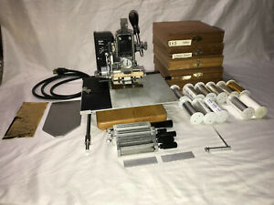 Kinglsey Hot Foil Stamping Machine M 75 With Stamping Foil 5 Boxes Of Emblems