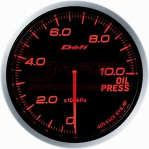 Defi Link Meter Advance Bf Oil Pressure Gauge Amber Red Face 60mm Df10202