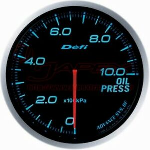 Defi Link Meter Advance Bf Oil Pressure Gauge Blue Face 60mm Df10203