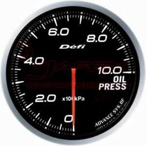 Defi Link Meter Advance Bf Oil Pressure Gauge White Face 60mm Df10201