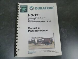 Duratech Hd 12 Series Iv Industrial Tub Grinder Parts Catalog Manual Gi0081 up