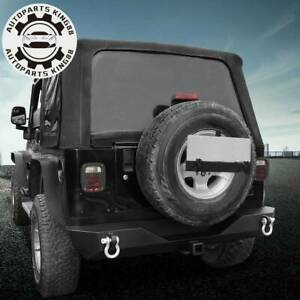For Jeep Wrangler 87 06 Tj Yj Textured Rear Bumper W Hitch Receiver