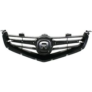 Grille For 2004 2005 Acura Tsx Black Plastic