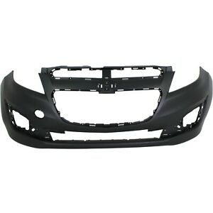Front Bumper Cover For 2013 2015 Chevy Spark W Fog Lamp Holes Primed