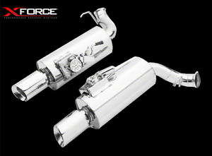 Xforce Axle Back Dual Rear Varex Mufflers For Ford Mustang Gt 2011 14