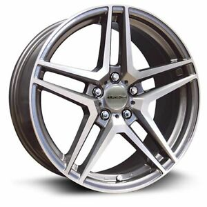 Four 4 17x7 5 Rtx Oe Stern Et 43 Grey 5x112 Wheels Rims