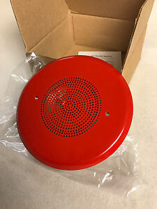 New Est Edwards Systems 965 1a 4rr Fire Alarm 4 Speaker Red 70v Rms