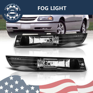 For 2000 2005 Chevy Impala Chevrolet Clear Front Driving Fog Light W bulbs Lh rh