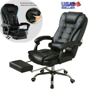 Heavy Duty High Back Executive Ergonomic Leather Big And Tall Desk Chair 400 Lb