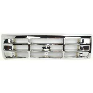 Grille For 92 96 Ford F 150 92 97 F 250 Chrome Plastic