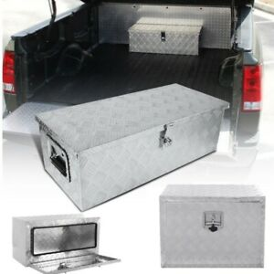 36 24 Aluminum Truck Underbody Tool Box Trailer Tool Storage Under Bed W Lock