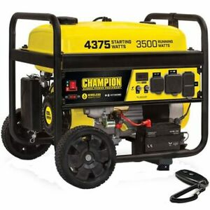 Champion 100558 3500 Watt Electric Start Portable Generator W Rv Outlet