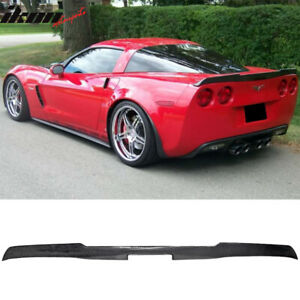 Fits 05 13 Chevy Corvette C6 H Style Rear Trunk Spoiler Cf