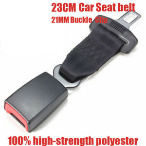 23cm Car Seat Belt Extender Auto Extension 21mm Buckle Safety Clip Pregnant Us