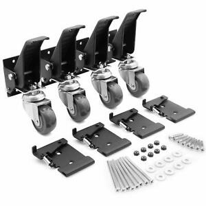 Workbench Caster Kit 4 Heavy Duty Retractable Casters With 4 Spring Lock Quic