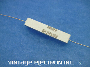 Colber Wire Wound Resistor 10 Ohm 10 10 Watt nos Dynaco 120100 Usa