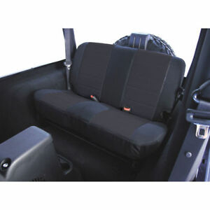 New For Jeep Wrangler Tj 03 06 Rear Fabric Seat Cover Black X 13282 01