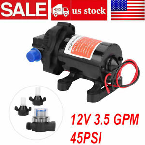 1pcs Dc12v Water Pump Self Priming Pump Diaphragm High Pressure Automatic Switch