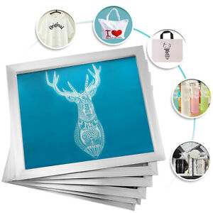 6 Pack 12 x16 Aluminum Frame Silk Screen Printing Screens With 110 Mesh