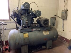 Ingersoll Rand Air Compressor 25 Hp Model 25 Type 30 3 Stage Large Tank