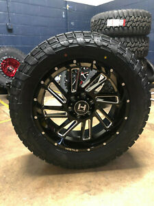 20x9 Hostile H110 Stryker Wheels Rims 32 At Tires 8x170 Ford Excursion F250